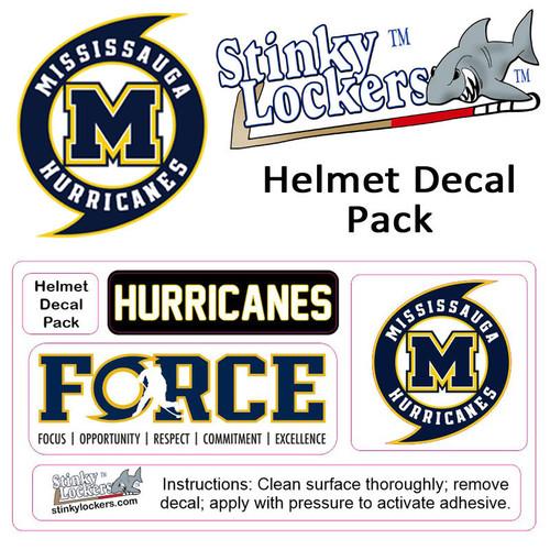 Mississauga Hurricane Helmet Decal Pack