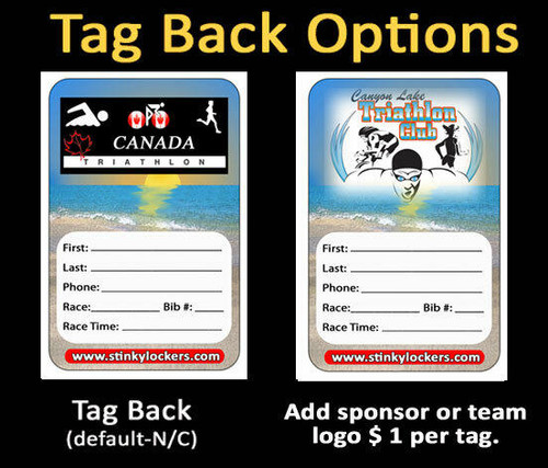 Personalized Triathlon Luggage Tag with Loop