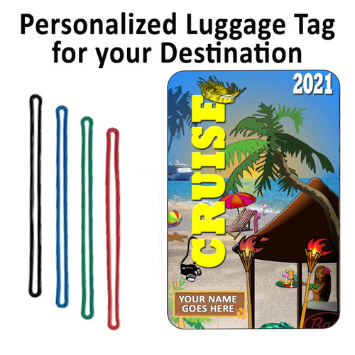 Personalized Cruise Luggage Tag with Loop