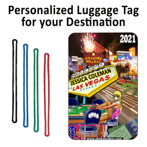 Personalized Las Vegas Luggage Tag with Loop
