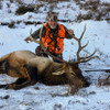 Successful elk hunt in Montana