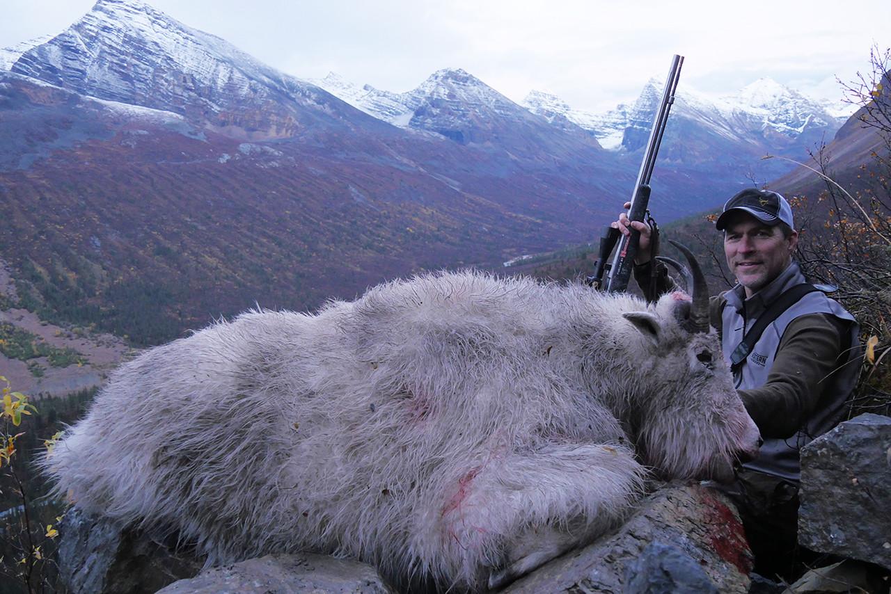 Mountain goat hunt success.