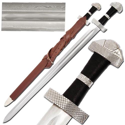 Viking 9th Century Damascus Steel Sword