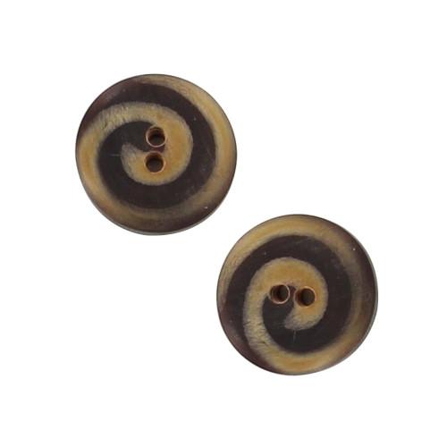 Cosmic Karma Handmade Horn Spiral Button Set