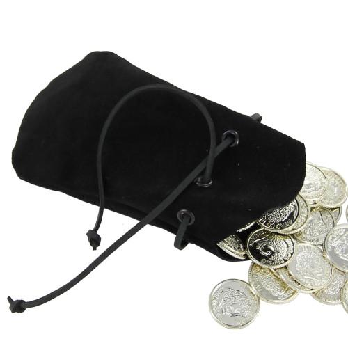 Suede Herbalist Money Bag Drawstring Purse