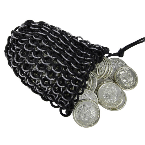 Dark Ages Tempt Fate Chainmail Dice Bag