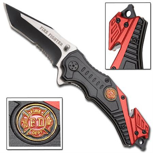 Fire Fighter Inferno Spring Assisted Knife