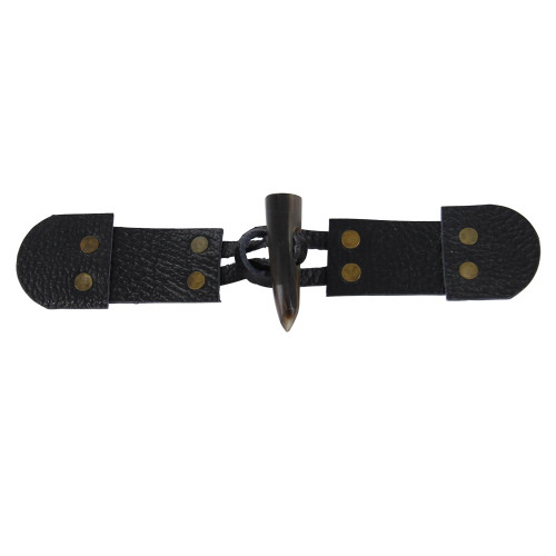 Medieval Pebble Leather Toggle Fastener