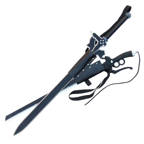 Titan Attack Kiritos Elucidator Foam Sword Set with Double Sword Back Strap Sheath
