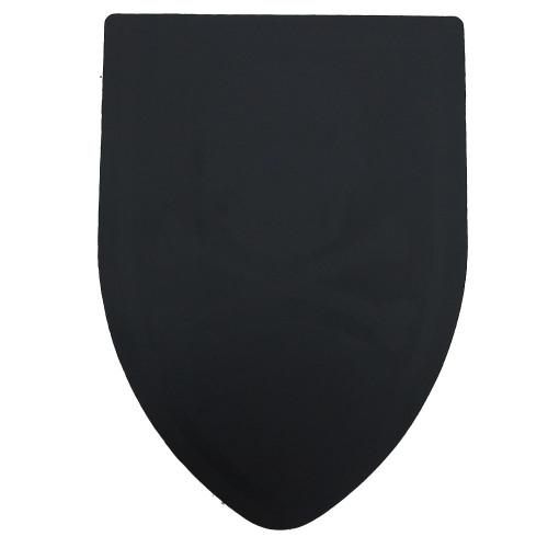Round Table Black Blank Foam Shield