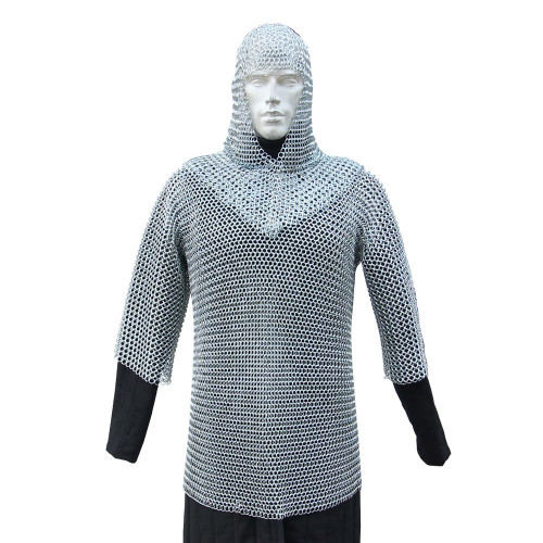 Functional 16g Chainmail Armor with Coif Set