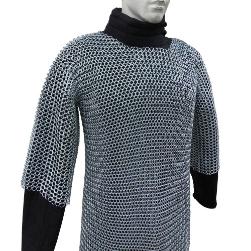 Battle Ready Medieval Habergeon Chainmail Armor Coif Set