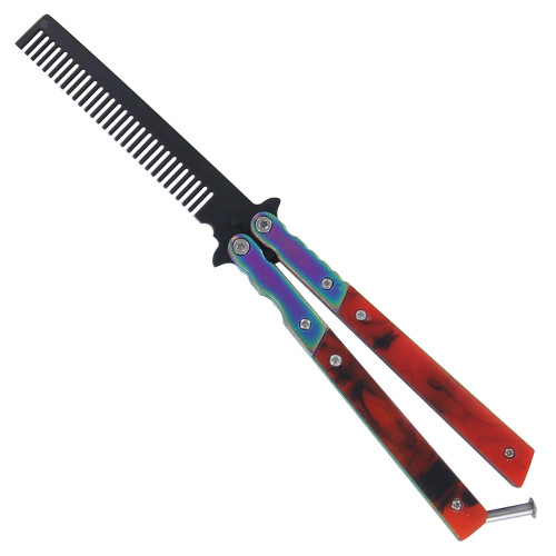 Butterfly Training Glowing Ember Comb Knife