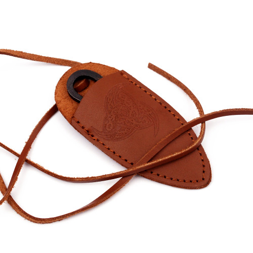 Hand Forged Medieval Outdoor Pocket Neck Knife | Brown Sheath |