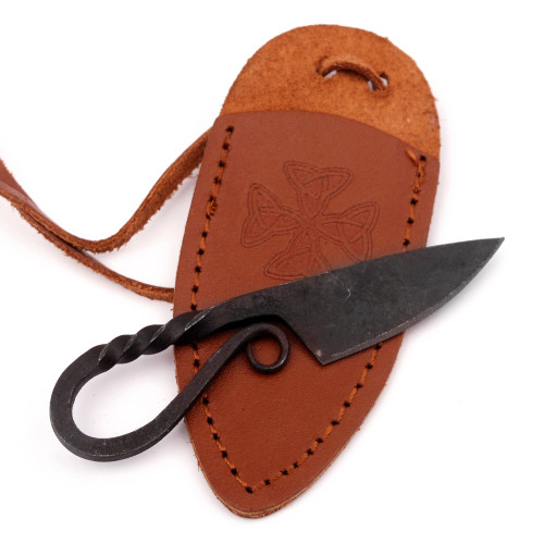 Twisted Sister Miniature Pocket Neck Knife Necklace | Brown Sheath |