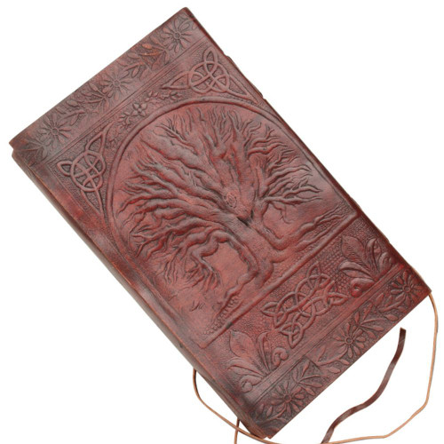 Embossed Celtic Tree of Life Leather Bound Writing Journal