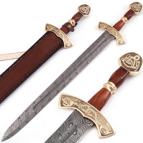 Warriors Call Damascus Steel Carolingian Viking Sword