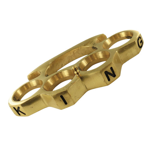 Hail to the King Pure Brass Knuckleduster Belt Buckle Accessory