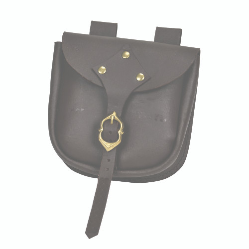 Medieval Adventurer's Brown Authentic Leather Pouch