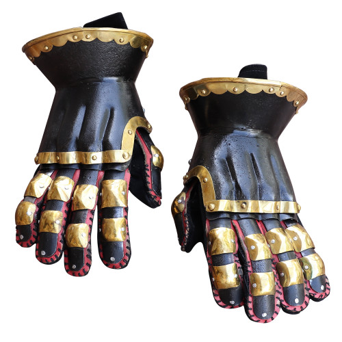 Armory Replicas ™ The Cursed Black Knight Functional Medieval Armor Gauntlets