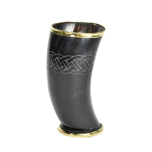 The Hooded Raven ™ Ceremonial Viking Drinking Horn Cup Canvas Bag Included
