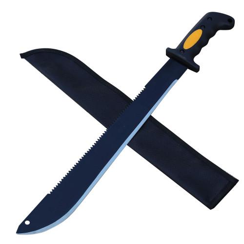 Night Stalker Sawback Latin Functional Outdoor Machete Knife