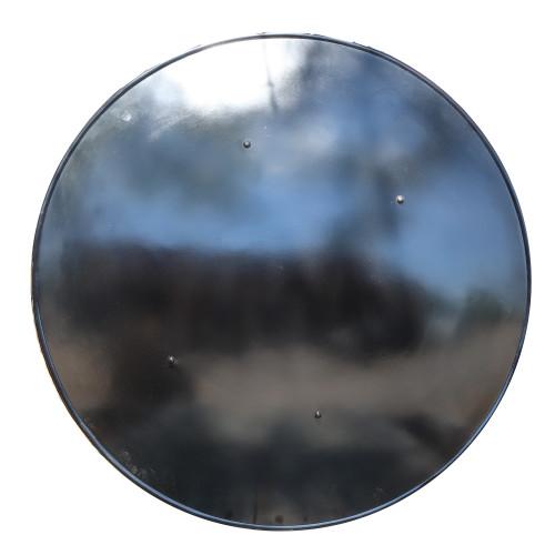 Medieval Functional Steel Blank Black Domed Shield