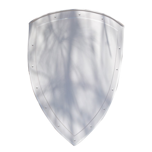 14th Century Medieval Functional Historical Replica Steel White Heater Shield