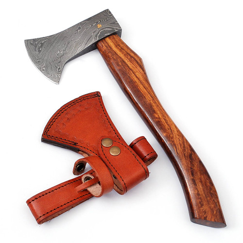 Pigeon Forge Damascus Steel Outdoor Camping Hatchet Axe