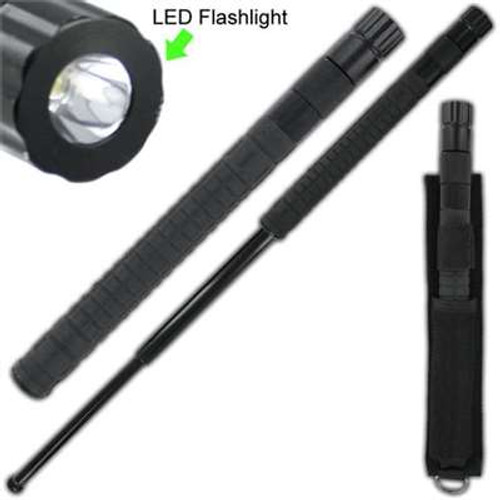 Tactical Heat Tempered Square Grip Flashlight Baton 26 in