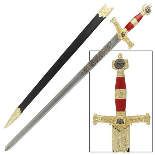King Solomon Medieval Crusader Replica Longsword - Red