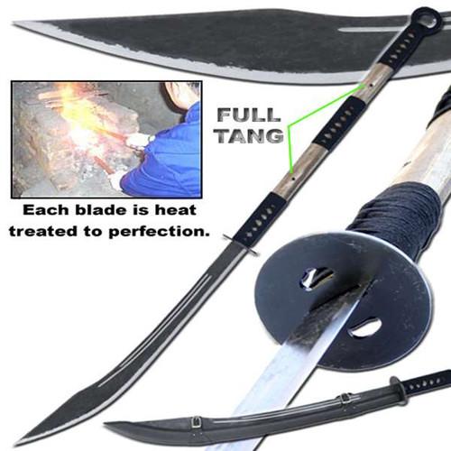 Hand Forged Japanese Replica Ashigaru Naginata Polearm Sword