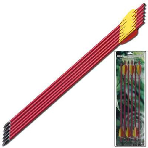 Extra Aluminum Survival Arrow Red 20 Inch 6pcs Set
