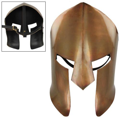 Ancient Greek Copper Spartan Battle Mask