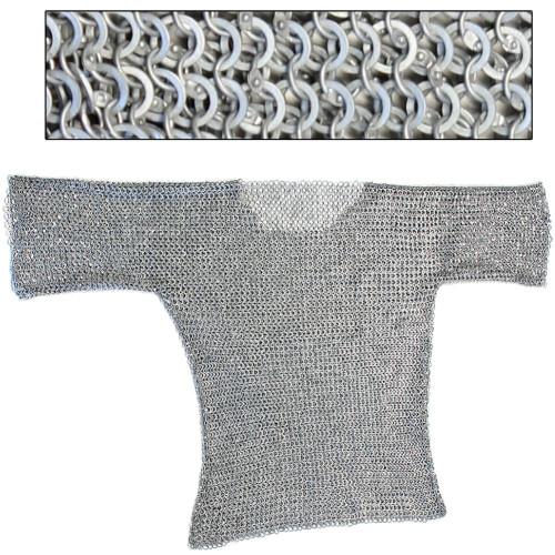 Re-enactment Aluminum Haubergeon Chainmail Large