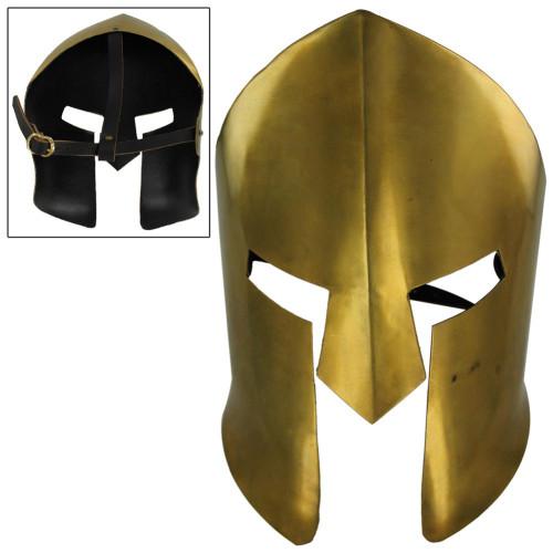 Ancient Greek Spartan Brass Battle Mask
