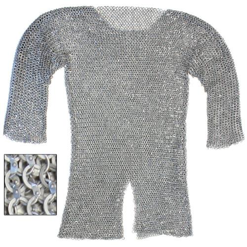 Re-enactment Aluminum  Hauberk Chainmail Large