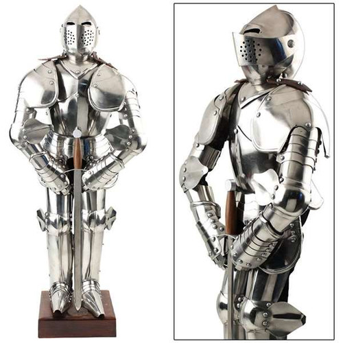 Knight in Shining Armor Medieval Statue