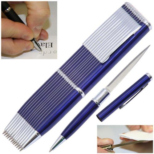 Elegant Executive Dozen Pen Knife Set Blue