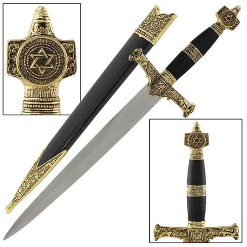 King Solomon Medieval Crusader Dagger Black