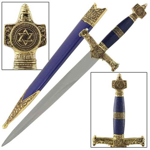 King Solomon Medieval Crusader Dagger Blue