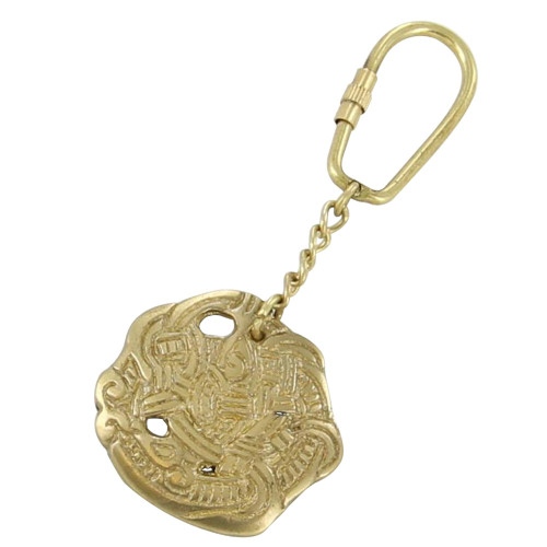 Brass Greifter Viking Serpent Keychain