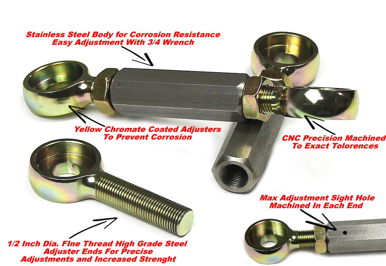Kawasaki ZX14R Full Adjustable Lowering Links -Super Slammers
