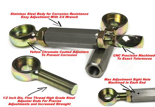 Kawasaki ZX14R Full Adjustable Lowering Links