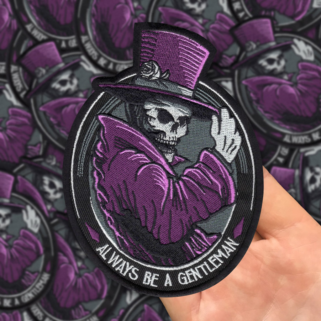 Huge Gentleman Ghost 9 Embroidered Back Patch