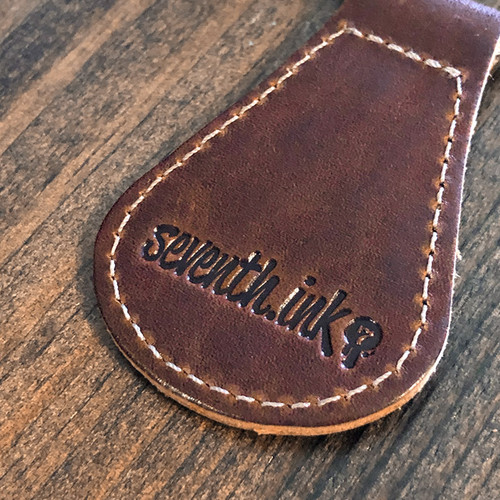 Leather Coffee or Death Keychain by Seventh.Ink