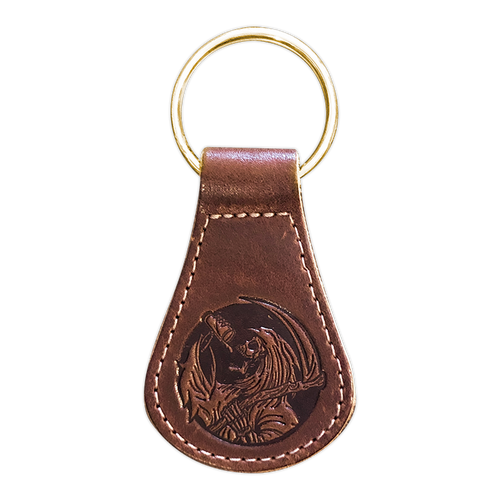 Leather Drinkin' Reaper Keychain by Seventh.Ink