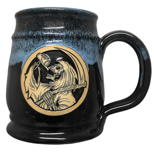 Drinkin' Reaper Black  w/ Blue Tankard by Seventh.Ink