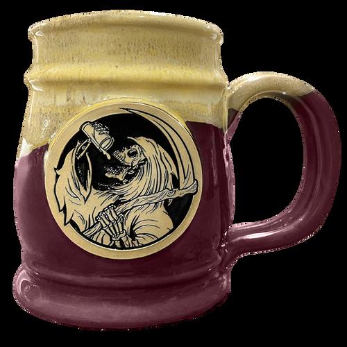 Drinkin' Reaper Purple  w/ Yellow Tankard by Seventh.Ink