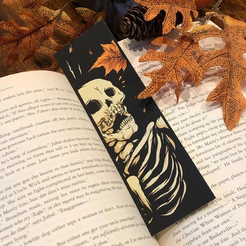 Mapled  Screen Printed Bookmark
